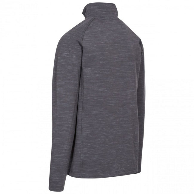 Grey Marl - Back - Trespass Mens Brolin DLX Fleece Jacket