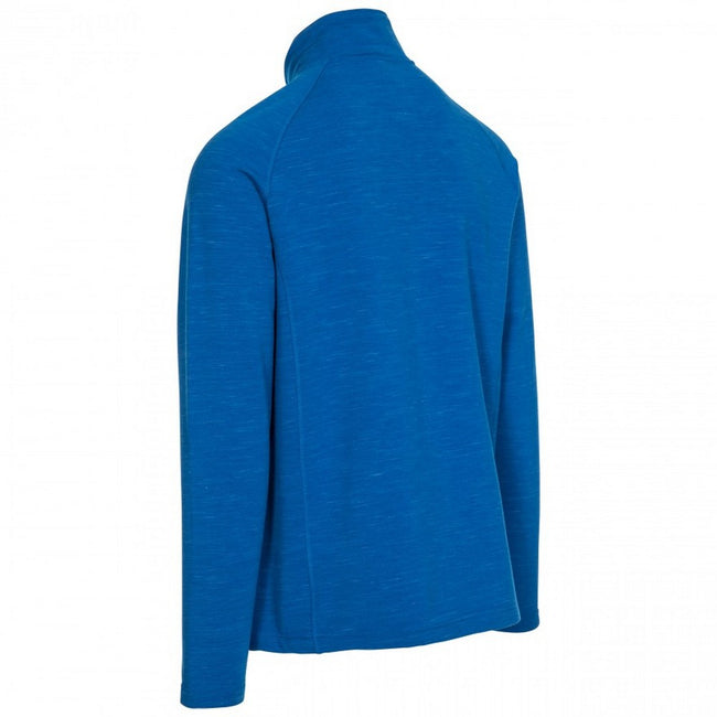 Blue Marl - Back - Trespass Mens Brolin DLX Fleece Jacket