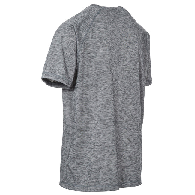 Grey Marl - Back - Trespass Mens Striking DLX T-Shirt