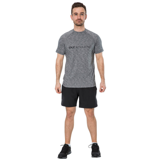 Grey Marl - Side - Trespass Mens Striking DLX T-Shirt