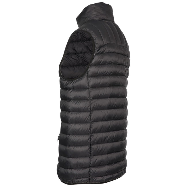 Black - Back - Trespass Mens Hoppers Down Gilet