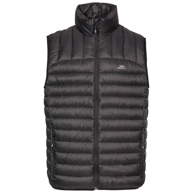 Black - Front - Trespass Mens Hoppers Down Gilet