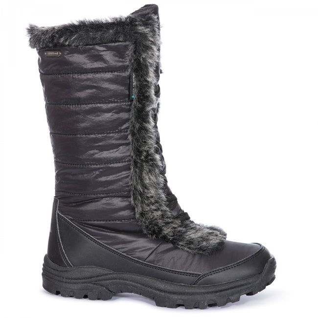 Black - Back - Trespass Womens-Ladies Coretta Snowboots