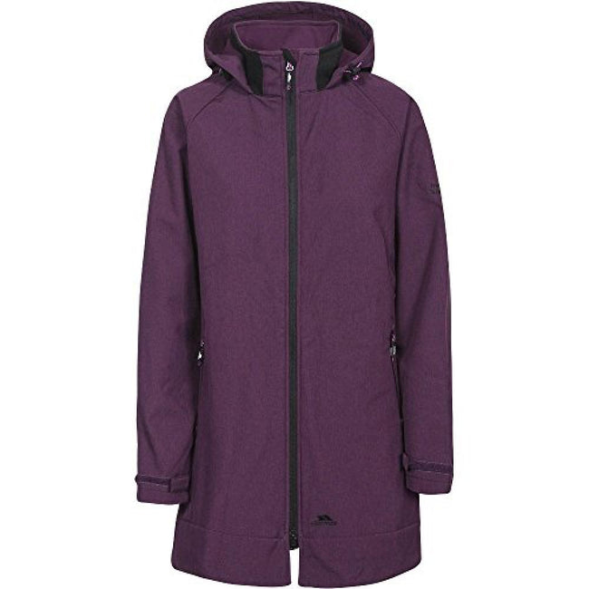 Potent Purple Marl - Front - Trespass Womens-Ladies Maeve Softshell Jacket