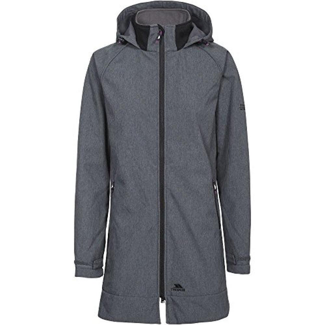 Carbon Marl - Front - Trespass Womens-Ladies Maeve Softshell Jacket