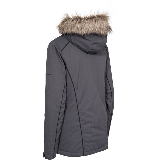 Carbon - Back - Trespass Womens-Ladies Caitly Hooded Touch Fastening Ski Jacket