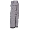Grey - Back - Trespass Childrens-Kids Joust Weatherproof Padded Touch Fastening Trousers