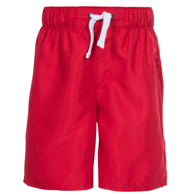Red - Front - Trespass Childrens Boys Riccardo Swimming Shorts