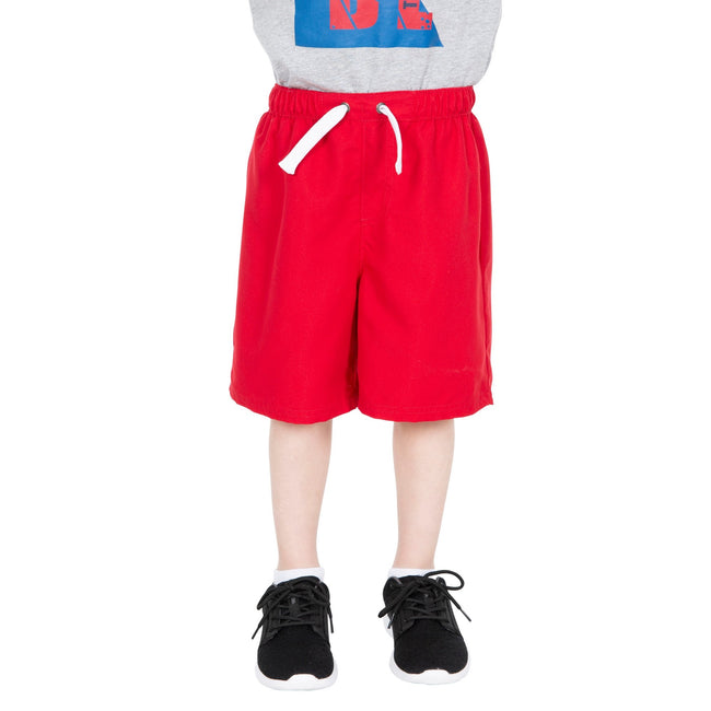 Red - Side - Trespass Childrens Boys Riccardo Swimming Shorts