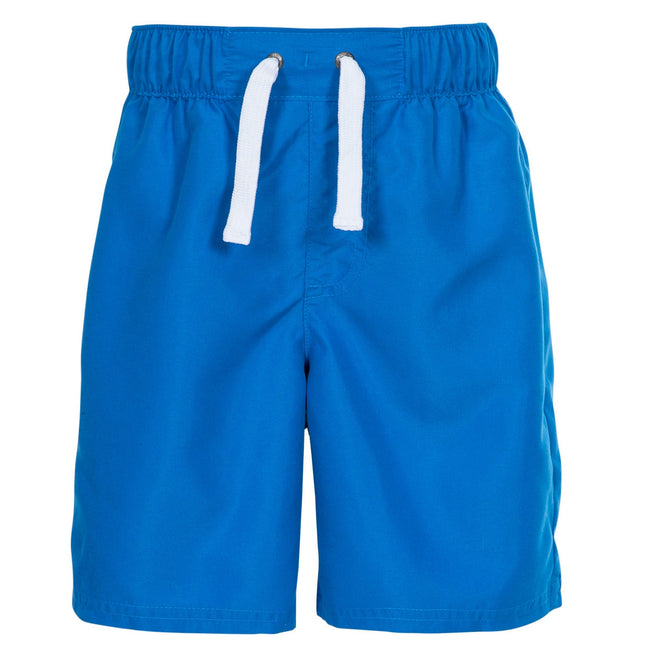 Blue - Front - Trespass Childrens Boys Riccardo Swimming Shorts