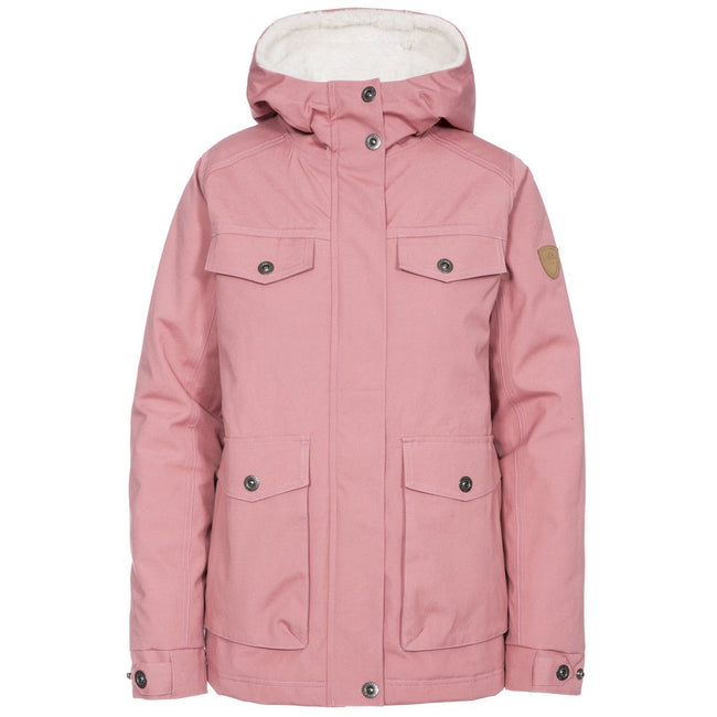 Dusty Rose - Front - Trespass Womens-Ladies Devoted Waterproof Jacket