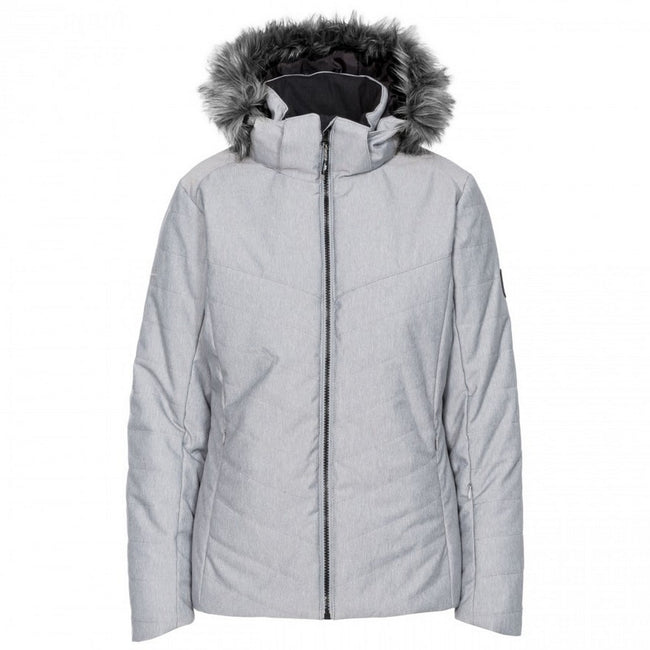 Light Grey - Front - Trespass Womens-Ladies Wisdom Ski Jacket