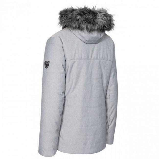 Light Grey - Back - Trespass Womens-Ladies Wisdom Ski Jacket