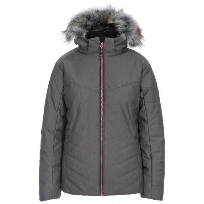 Dark Grey - Front - Trespass Womens-Ladies Wisdom Ski Jacket