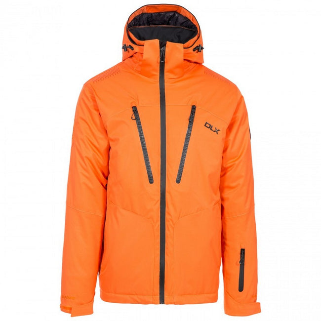 Orange - Front - Trespass Mens  DLX Banner Ski Jacket