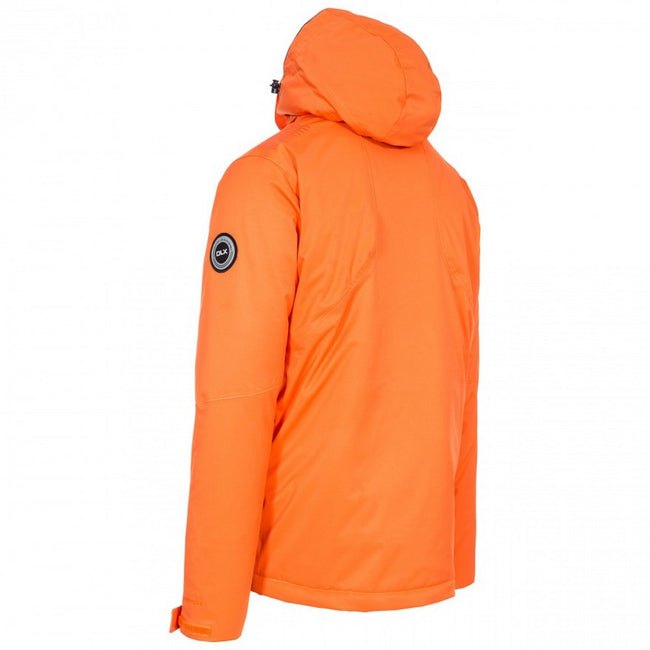 Orange - Back - Trespass Mens  DLX Banner Ski Jacket