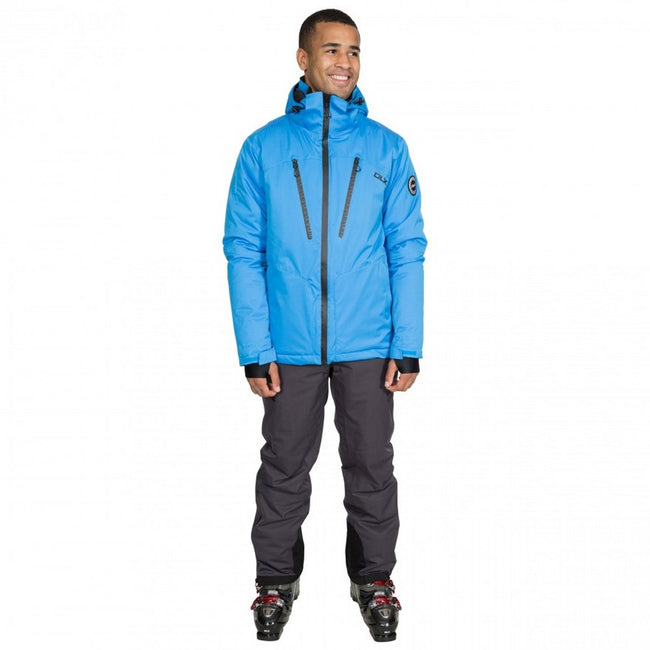 Vibrant Blue - Back - Trespass Mens  DLX Banner Ski Jacket