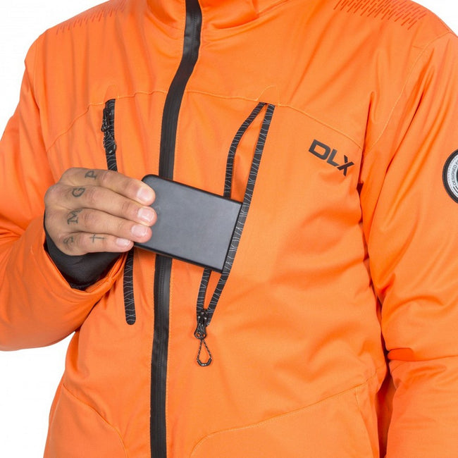 Orange - Pack Shot - Trespass Mens  DLX Banner Ski Jacket