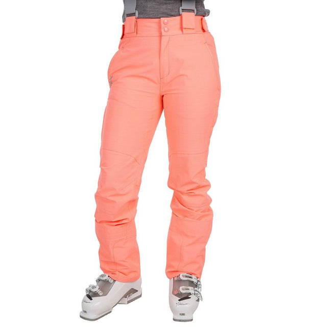 Neon Coral - Back - Trespass Womens-Ladies Jacinta DLX Ski Salopettes Trousers