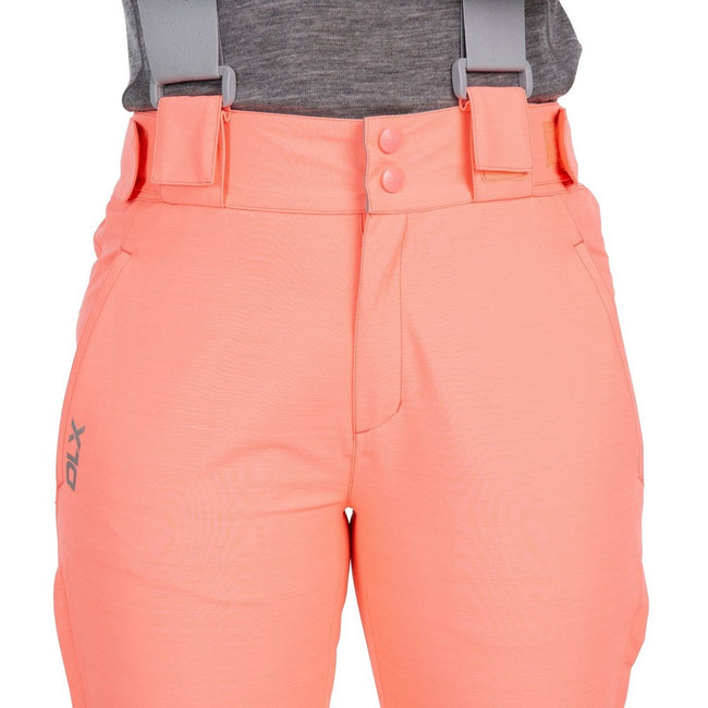 Neon Coral - Pack Shot - Trespass Womens-Ladies Jacinta DLX Ski Salopettes Trousers