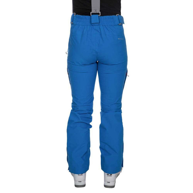 Vibrant Blue - Side - Trespass Womens-Ladies Jacinta DLX Ski Salopettes Trousers
