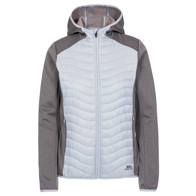 Dark Grey - Front - Trespass Womens-Ladies Cecilia Padded Hoodie