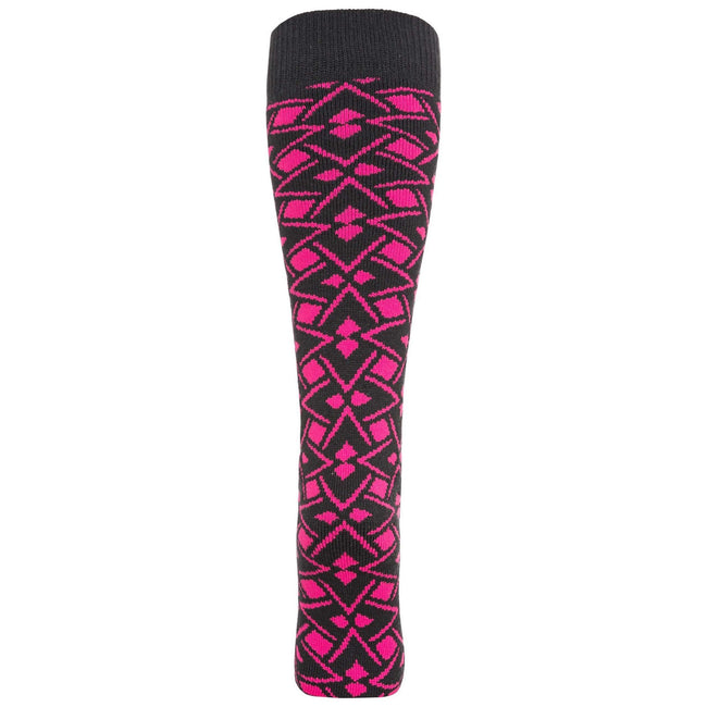 Pink Lady Geo Print - Front - Trespass Womens-Ladies Marci Ski Socks