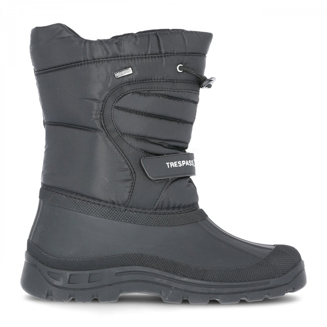 Black - Front - Trespass Unisex Dodo Pull On Winter Snow Boots