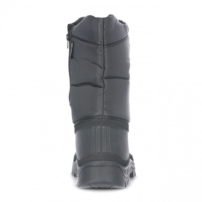 Black - Back - Trespass Unisex Dodo Pull On Winter Snow Boots