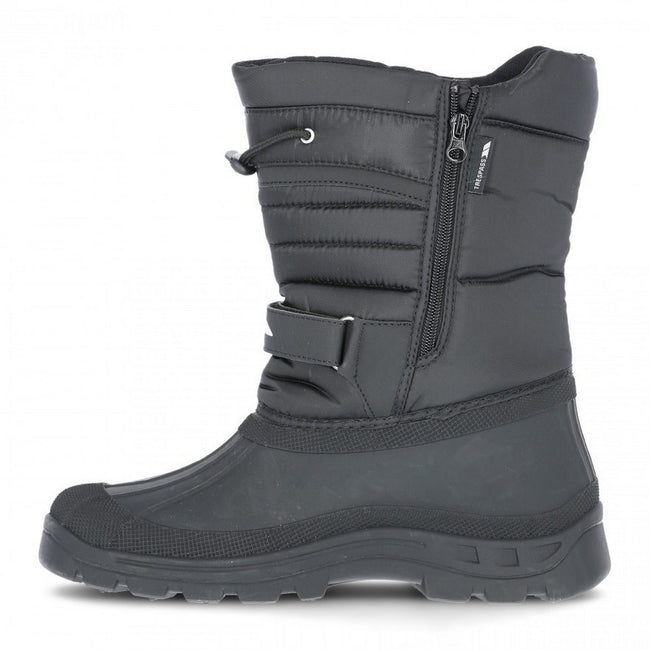Black - Side - Trespass Unisex Dodo Pull On Winter Snow Boots