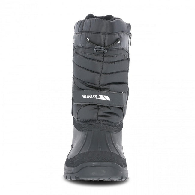 Black - Pack Shot - Trespass Unisex Dodo Pull On Winter Snow Boots