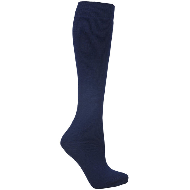 Navy Blue - Front - Trespass Adults Unisex Tubular Luxury Wool Blend Ski Tube Socks