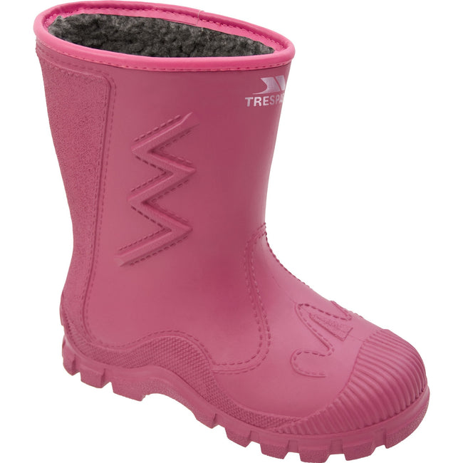 Sasparilla - Front - Trespass Kids Unisex Toetey Waterproof Fleece Lined Wellies
