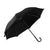 Black - Front - Mens Plain Walking Umbrella With PVC Handle