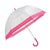 Clear-Pink - Front - Adults Unisex Transparent Dome Walking Umbrella