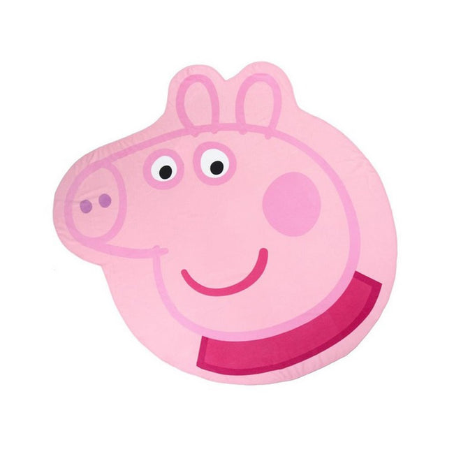 Pink - Front - Peppa Pig Childrens-Kids Peppa Shaped Beach Towel