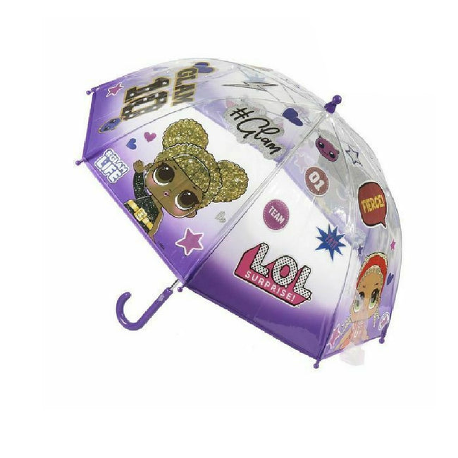Lilac - Front - LOL Surprise! Childrens-Kids Bubble Stick Umbrella