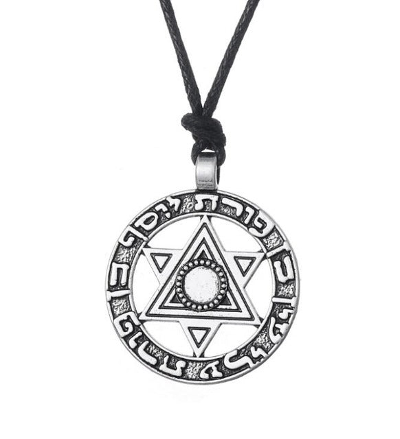 Star Of David Pendant Jewish Hebrew Necklace Religious Charms