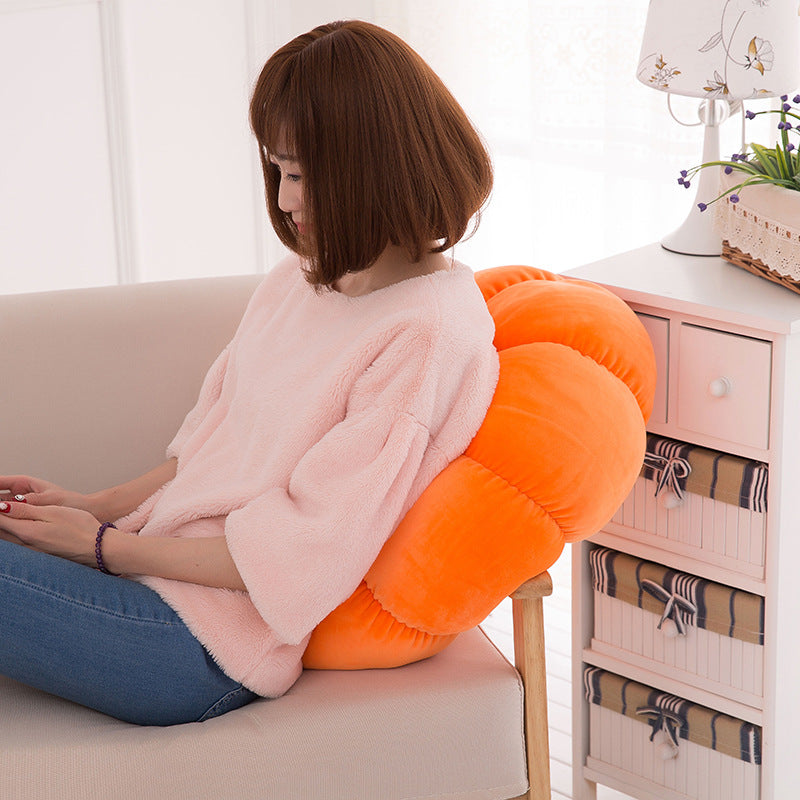 Pumpkin Pillow Plush Round Cushion Decor Home