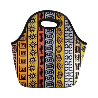 African Dashiki Cooler Food Lunch Bag