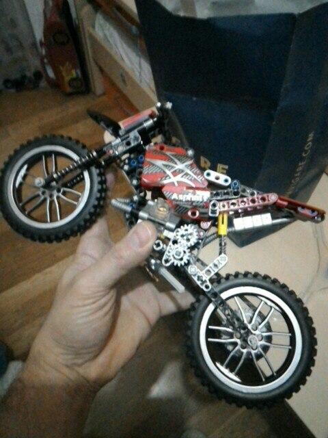 MOTO Cross Bike Building Blocks Motorcycle Model