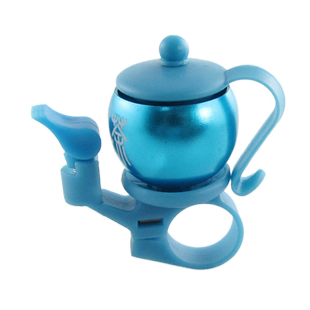 Blue Plastic Aluminum Teapot Shaped Bicycle Bike Bell