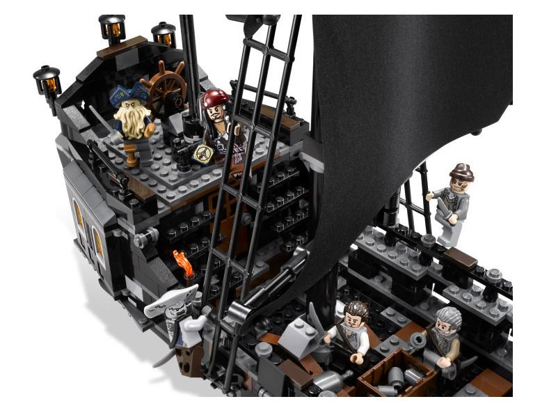 Black Pearl Ship Pirates Model Building Blocks Set