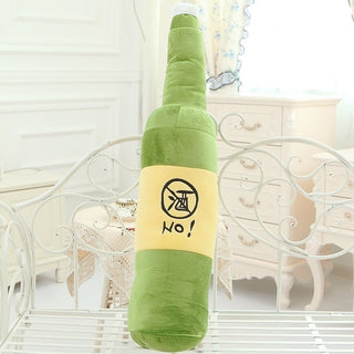 Beer Shaped Bottle Pillow