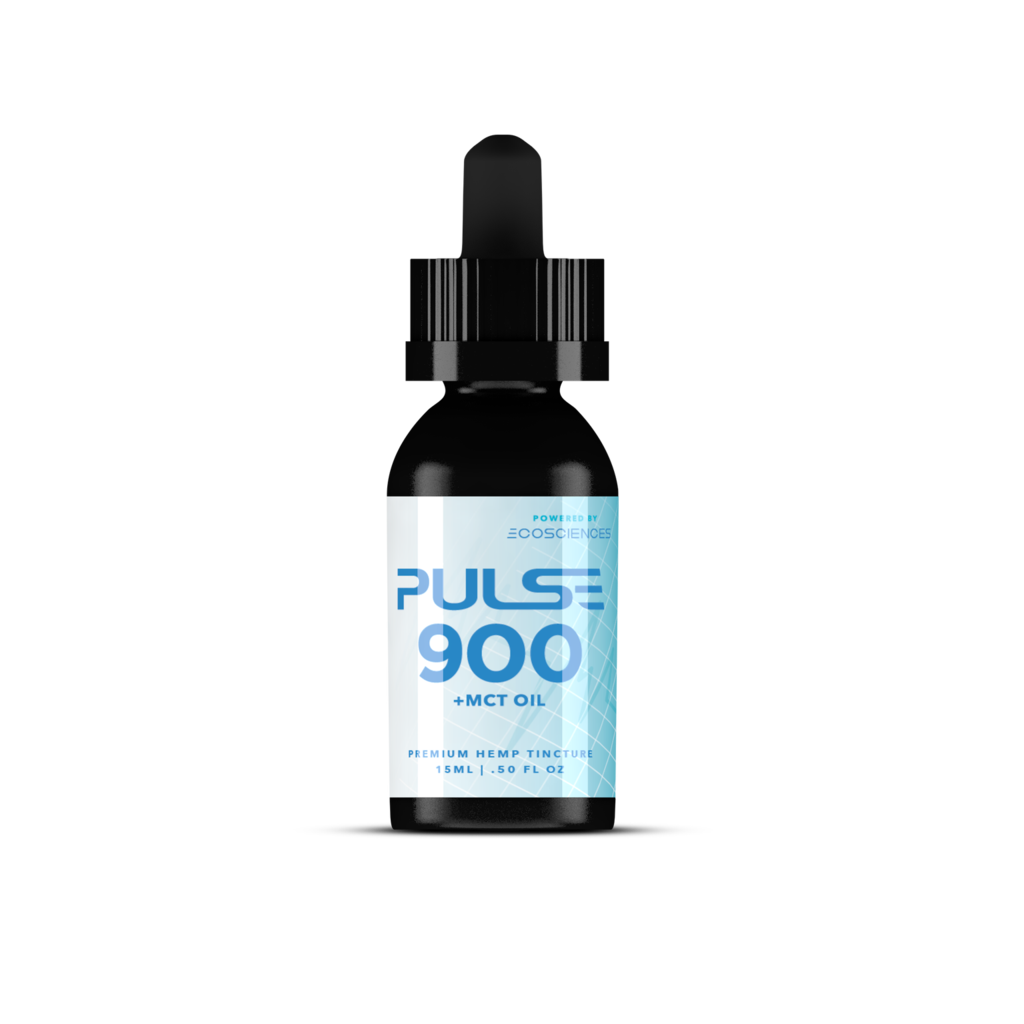 Pulse CBD Tincture 900mg +MCT Oil - Full Spectrum 15ml