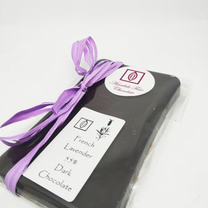French Lavender 55% Dark Chocolate 100g Bar