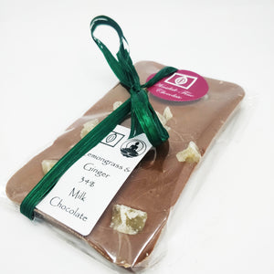 Lemongrass & Ginger 34% Milk Chocolate 100g Bar