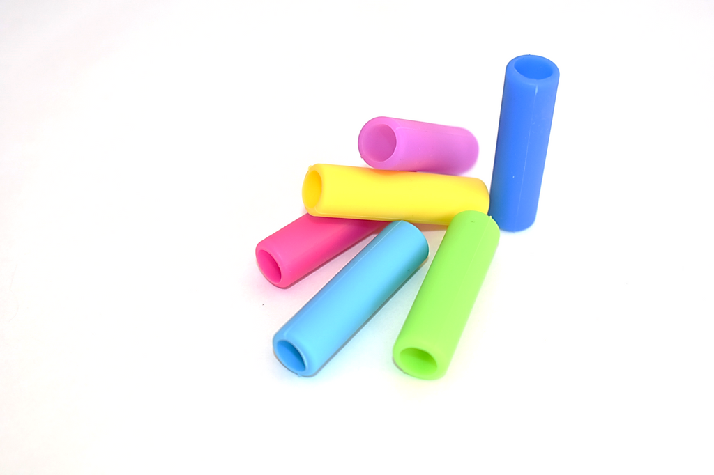 Silicone Smoothie Straw Tips in a 6-pack of Mixed Colors : Silicone Tip Collection