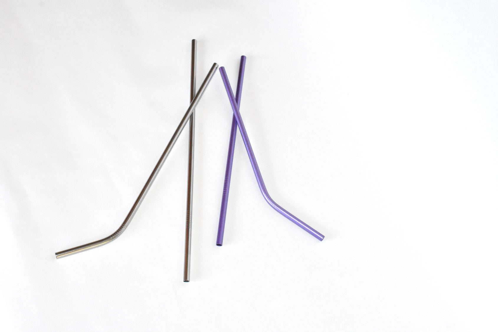 Lilac Purple and Silver Stainless Steel Straws : Silver Lining Collection