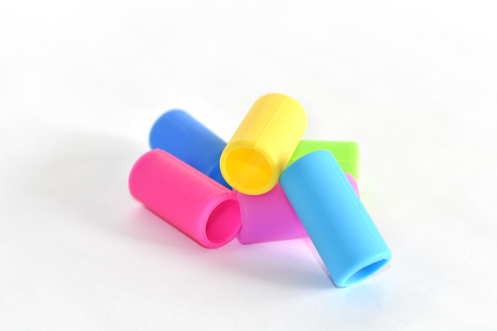 Silicone Boba Straw Tips in a 6-pack of Mixed Colors : Silicone Tip Collection